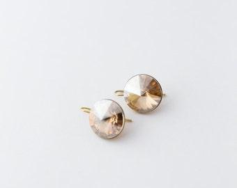 Golden Shadow Drop Earrings