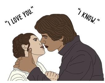 Han and Leia Star Wars Valentine