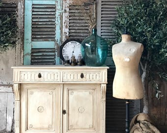 NOW SOLD - Lovely, rustic vintage French cabinet / cupboard