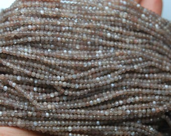 Super Amzing Micro Faceted, AAA Quality Finest Cut Natural Brown Moonstone Faceted Smaller Size Rondelles, 2.80mm