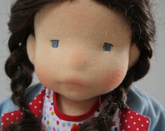 Lola 14 inch waldorf inspired doll, steiner doll ,cloth doll,handmade doll