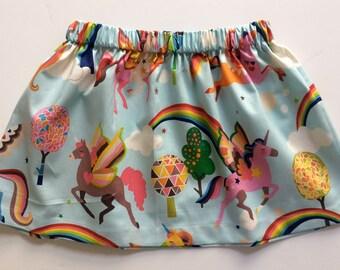 UNICORNS AND RAINBOWS // unicorn skirt // alexander henry // baby and toddler skirt