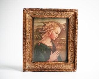The Virgin Mary by Lippi, framed, Italian Renaissance painting, Christian Art, religious icon, wall hanging, Catholic wall art