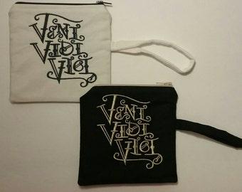 VENI VIDI VICI Embroidered Coin Purse