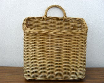 Vintage Wicker Woven Basket Wall Hanging Basket