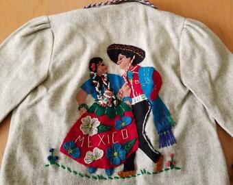 40's/50's Little Kids Mexican Wool Jacket - sz. 4-6