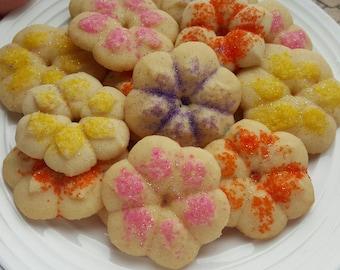 Spritz, Summer Flowers Spritz, Butter Cookies 3 dozen gourmet gift