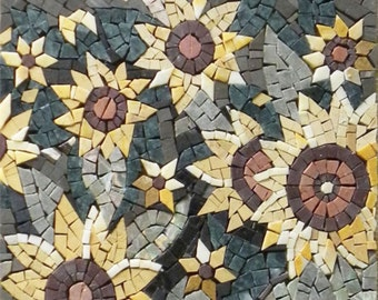 Yellow Flowers Art Mosaic
