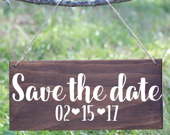 Custom Date Engagement Sign, Custom Save the Date Sign, Custom Date Wood Engagement Sign, Save the Date Sign, Save the Date Wood Sign