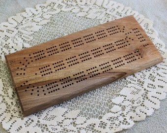 Spalted Maple, Cribbage Board, Continuous Three Track