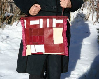 handbag patchwork leather