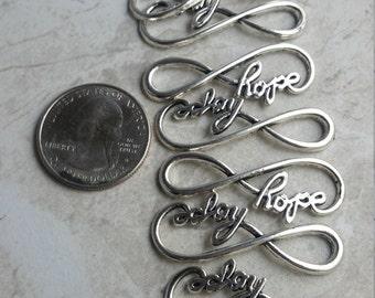 Silver hope bracelet connecter's
