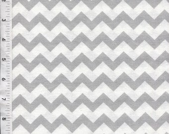 Chevron Zig Zag Gray Fabric