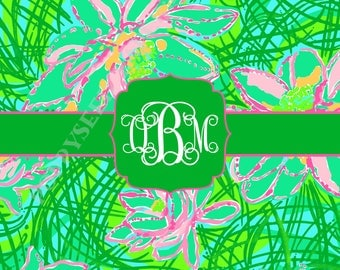 Lilly Pulitzer personalized folded note cards, Lilly Pulitzer stationery, preppy, Thank You Notes