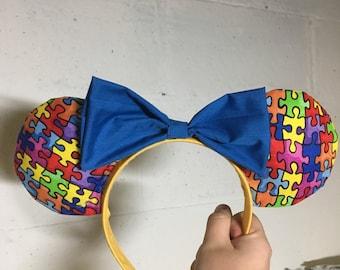 Autism Awareness Mickey Ears