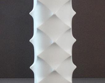 Scherzer Mid Century Bisque Porcelain Studded Vase