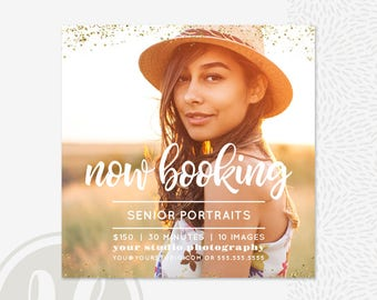 Senior Marketing Template - Senior Photography Marketing, Senior Marketing Board, Senior Mini Session Template, Instagram Marketing
