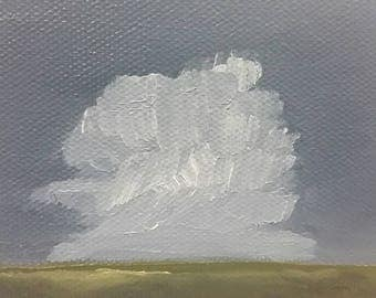 Rolling Thunder - Oil Painting - Minimalist