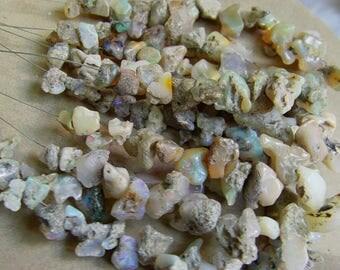 1. Strand Ethiopian  Opal Rough    beads  8''  each strand 15.grams  6X8  10X20 MM