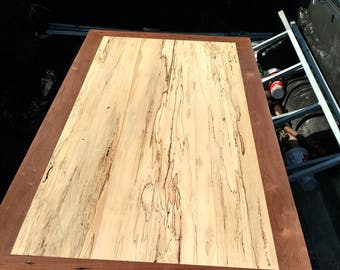 Spalted maple and black walnut reclaimed coffee table and end table set