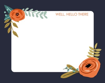 Well hello there stationery-FREE SHIPPING or DIY printable