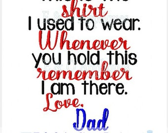 Shirt Saying Dad Embroidery Design - These are Shirts I used to Wear Machine Embroidery Design - Dad Embroidery Design - Digital Design