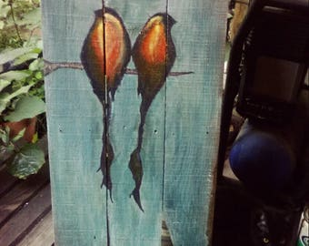 Sparrow Painting Pallet Art