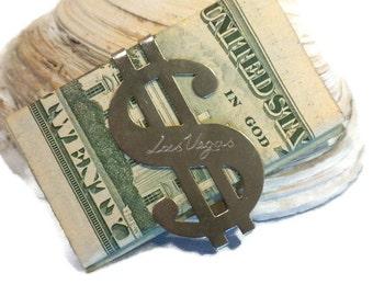 Las Vegas Money Clip, Dollar Sign Money Clip, Las Vegas Souvenir, Silver Money Clip, Vegas Collectible, Money Clip From Vegas