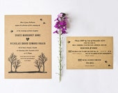 DIY printable invite, RSVP and info card