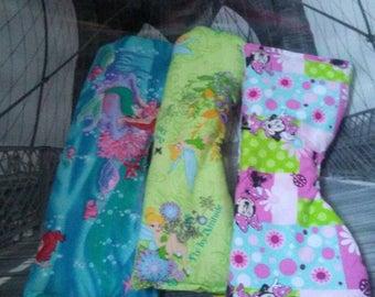 Disney Girl burp cloth lot, baby shower gift,  feeding rag,  spit up rag, cleaning rag,  trendy burp cloth,  baby girl