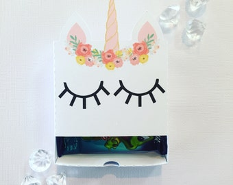 Floral unicorn matchboxes