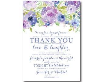 PRINTABLE Thank You Card, Printable Wedding Thank You Card, Wedding Thank You, Thank You Card, Thank You, Wedding Card, Thanks Card #CL330
