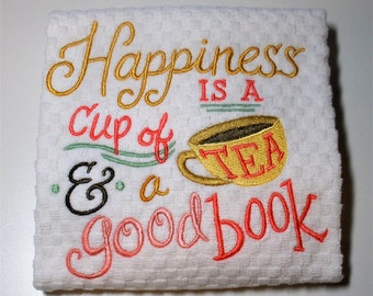 "Book Club Gift, Mother's Day, Dish Towel, Book Lover, Librarian, Tea Lover, Hostess, Birthday, Gift For Reader, Kitchen Towel ""Splendid"""