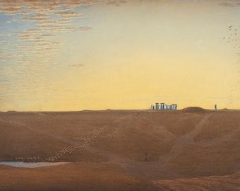 J.M.W. Turner: Stonehenge - Twilight. Fine Art Print/Poster. (004151)