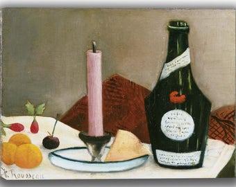 Henri Rousseau: The Pink Candle. Fine Art Canvas. (04156)