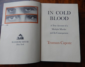 First Edition, First Printing of In Cold Blood by Truman Capote