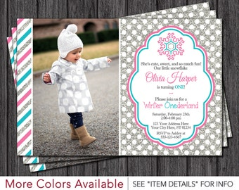 Winter ONEderland Invitation • Winter Wonderland First Birthday Invitations