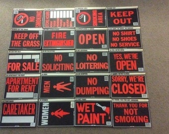 """Choose TWO Free Shipping~ Various Plastic Signs 8"""" x 12"""" - You Choose 2"""