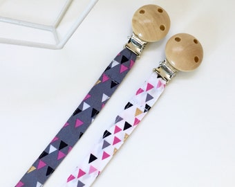 Pacifier clip / dummy clip with fabric strap