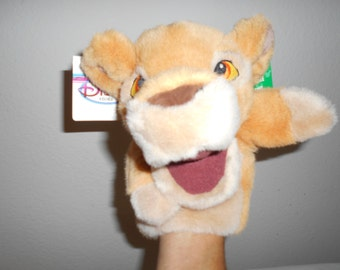 "Disney Lion King Puppet Plush ""Kiara""Character Lion Cub From The Movie/Great Pretend Play!/New With Tags/Very Soft and Plush!"