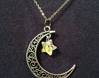 Legacy of Magick Filigree Crescent Moon Pendant