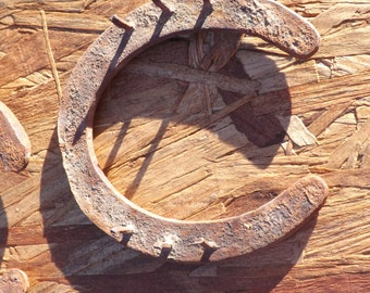 Horseshoes / Craft Metal Working / Collectable Western / Rustic Art / Used Steel/ Authentic Western / Good Luck / Welding Craft / Pantina
