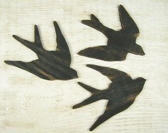 Swallow Bird Wall Art Wooden Bird Sign Wood Bird Art Bird Decor Bird Nursery Decor Bird Wall Decor Bird Decoration Swallow Wall Decor