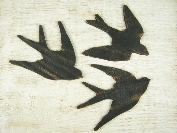 Swallow Bird Wall Art Wooden Bird Sign Wood Bird Art Bird