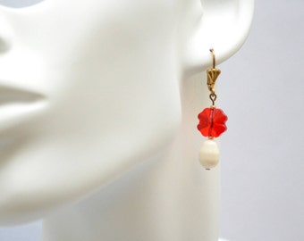 Lucky earring red