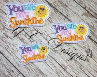 You are My Sunshine Feltie Sunny Feltie Embroidery File