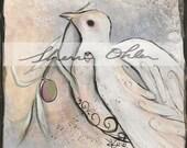 Dove Painting, Peace, Gra...