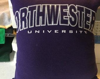 Northwestern T-shirt Pillow