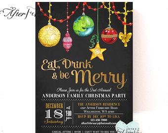 Ornaments Holiday Party Invitations Holiday Invite Christmas Printables Christmas Invitations Invite Printable No.434XMAS