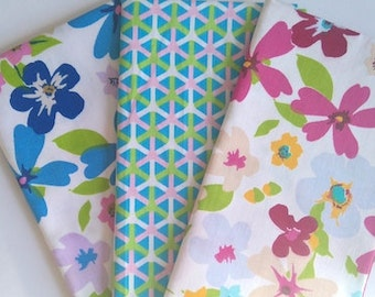 Fabric Fat Quarter bundle floral geometric design size 50cm x 40cm